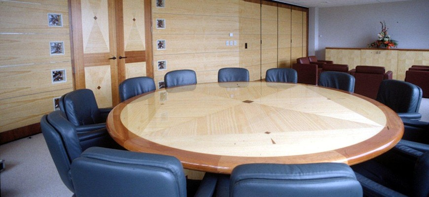 Pine used in boardroom